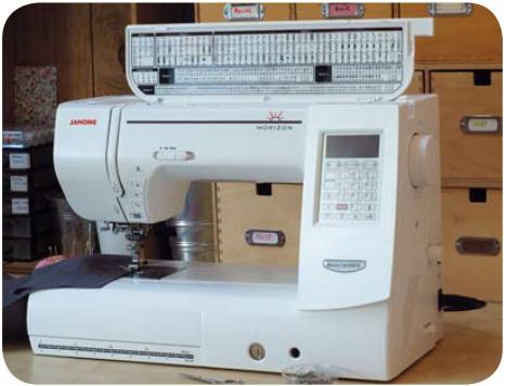 Продвинутая модель электронной машины марки Janome