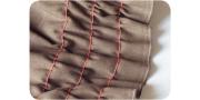 Сборки ткани с лапкой и без, вышивка по сборкам и эластичные сборки