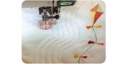 Вышивание в свободной технике: выполнение строчек и подбор лапки