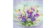 Картина «Полевой букет» в технике «Шерстяная акварель»