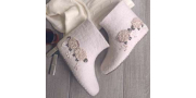 Валеночки «бяшки-барашки» на шаблоне: как свалять валенки из шерсти