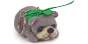Брелок «Мишка» на синтепоне: мастер-класс по валянию со шлифовкой