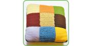 Подушка из квадратов: пошаговое вязание крючком