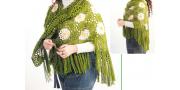 Шаль «Ромашки»: пошаговое вязание крючком
