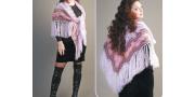 Шаль «Сиреневый вальс»: пошаговое вязание крючком