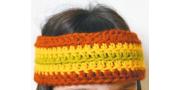 Повязка на голову «Хиппи»: пошаговое вязание крючком